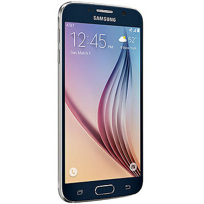 "New Samsung Galaxy S6 SM-G920A AT&T Unlocked 32GB Android 5.1"" Smartphone Black"