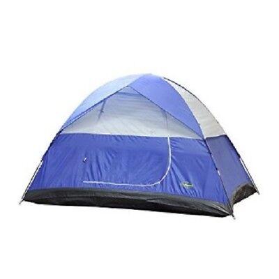 Stansport Teton Dome Tent, 10 x 8 x 72-Inch, Blue/Tan