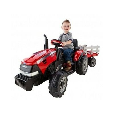 Kids Farm Tractor Ride On 12V Battery Powered Vehicle W Trailer Electric Car Toy