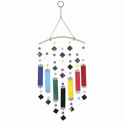 Rainbow Multi Color Glass Bars and Mirrors 15 inch Glass Suncatcher FREE SHIP