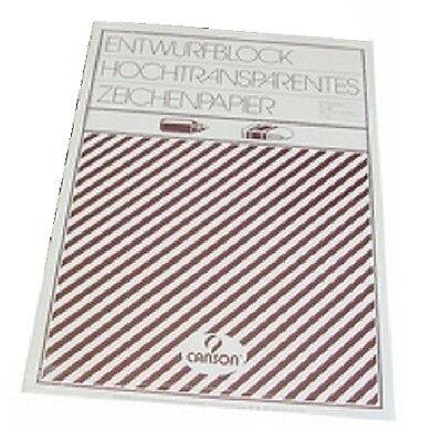 Canson Zeichenpapier Block A3, transparent, 50 Blatt Kopierer Technisches Papier