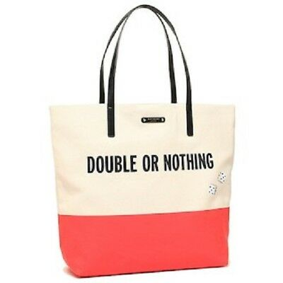 KATE SPADE Taft Street Bon Shopper Double or Nothing Tote Bag Purse WKRU3565