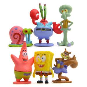 6PCS Set SpongeBob Squarepants Patrick Star Squidward Tentacles PVC Figure Toys