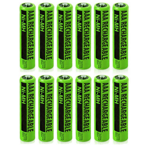 Rechargeable Cordless Phone Battery for Panasonic NiMH AA (12-Pack)