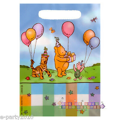 WINNIE THE POOH CLASSIC FAVOR BAGS (8) ~ 1st Birthday Party Supplies Goody Treat (Saints Party Supplies)