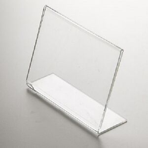 6 X 4 CLEAR ACRYLIC PERSPEX PHOTO FRAME LANDSCAPE FREE STANDING