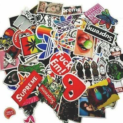 100 pcs hypebeast Sticker Pack for skateboard, laptop, car,weed, bape