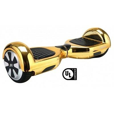 2 Wheel Electric Motorized Scooter Bluetooth GOLD