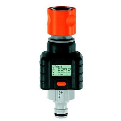 Gardena Digital Electronic Water Smart Flow Meter for Garden Hose Watering