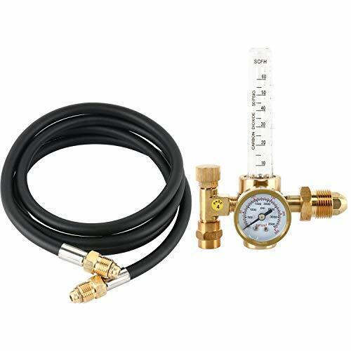 Argon CO2 Tig MIG Flow Meter Welding Regulator Welder Gauge With 6.6 Feet Hose