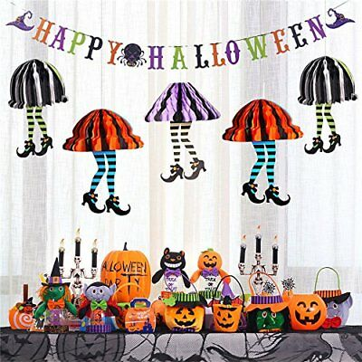 3PK halloween Holiday Party Decor Scary, paper hanging decoration window display - Scary Halloween Party Decor