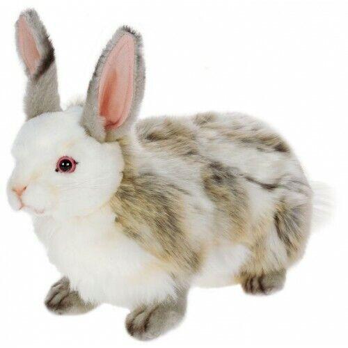 "New Hansa Life Like Life-sized Handmade Stuffed Animal Jacquard Rabbit 14"""