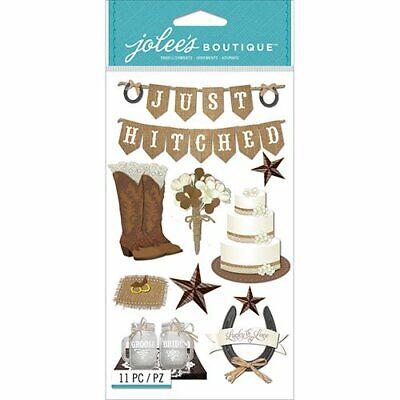 Jolee's Boutique Scrapbook Craft Stickers Embelishments Western Wedding Country