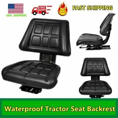 Universal Lawn Tractor Seat Pvc Riding Mower Wbackrest Steel Outdoor Waterproof