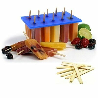 NEW Norpro Frozen Ice Pop Maker With 100 Free Wooden Sticks FREE SHIPPING