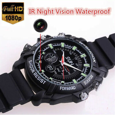 Mini 32GB DVR Camera Waterproof Full HD 1080P HID Spy Watch Camera Night Vision