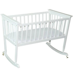"""Jolly Jumper 'Mission"""" wooden cradle EUC in White."""