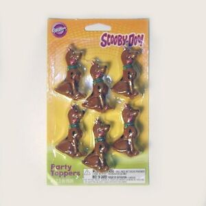 Scooby-Doo-package-of-6-Party-Toppers-2-5-inch-tall-Hard-Plastic-Figurines