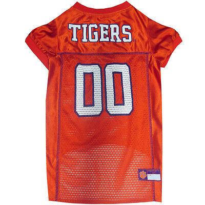 Clemson Tigers Dog Jersey - Clemson Tigers NCAA Pets First Licensed Dog Pet Mesh Orange Jersey XS-2XL NWT