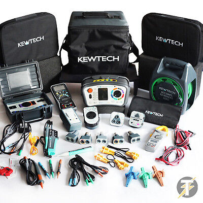 Kewtech KT64DL Multifunction Tester POWER-TEST Kit+ MASSIVE Range of Accessories