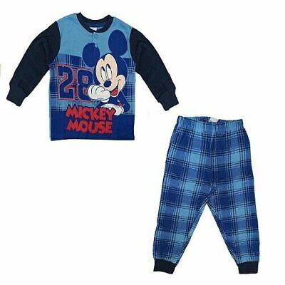 Pigiama Bimbo in Caldo Cotone Interlock Bambino Mickey Disney Topolino Art. 7705