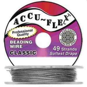 30' Accuflex clear 49 strand .024in Accu-flex Beading Wire NEW!