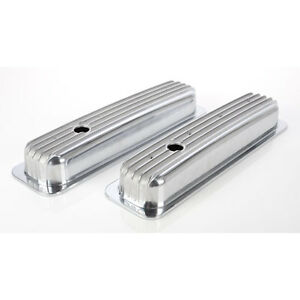 Polished Finned Valve Covers