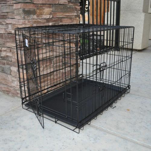 Large Metal Dog Cage Ebay
