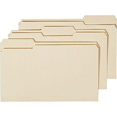 Staples Manila File Folders 3-tab Legal Size 24pk 22942  New Sealed