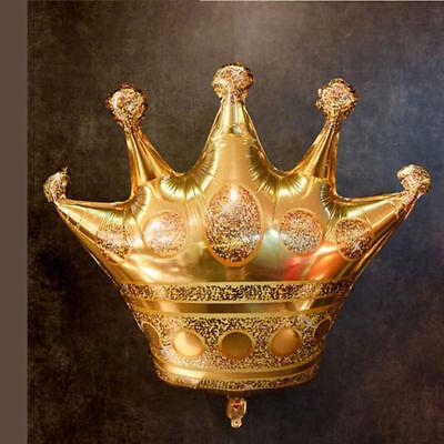 Golden Crown Shaped Aluminum Balloons Wedding Celebration Birthday Party Decor (Golden Birthday Decorations)