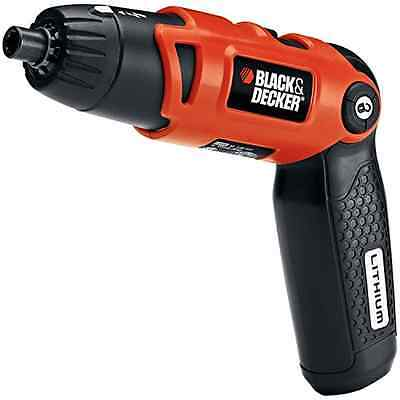 Cordless Li-Ion Screwdriver Electric Rechargeable Power Tool Black & Decker New