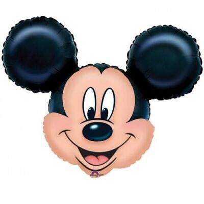 Mickey Mouse Head Large Foil Balloon Supershape Birthday Party Decoration](Mickey Mouse Birthday Decoration)