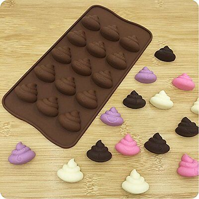 Poop Emoji Silicone Mold Chocolate Candy Making Crafts Ice Cube Fondant Birthday