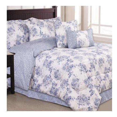 Queen Bed In A Bag Blue Ebay