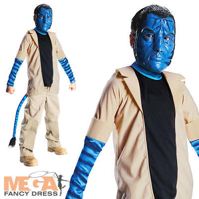 Jake Sully Avatar Movie Boys Fancy Dress Costume  - Boys Sully Costume