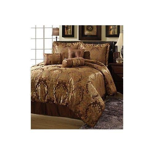 queen bed in a bag gold ebay. Black Bedroom Furniture Sets. Home Design Ideas