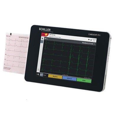 Schiller Cardiovit Ecg Ekg Machine W Etm Software Ft-1 New