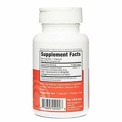 CRANBERRY PILLS Concentrate Supplement Urinary Tract Health Kidney HER VITAL WAY - $35.49