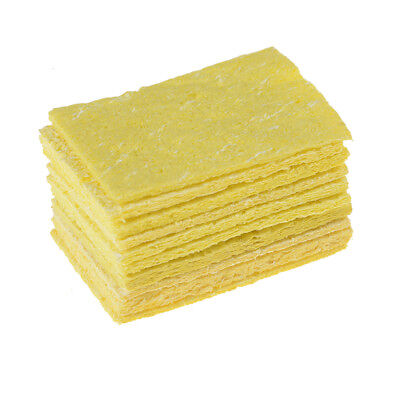 10Pcs High Temperature Sponge Clean Clear Tin Welding Soldering Iron 4*6cm$-$