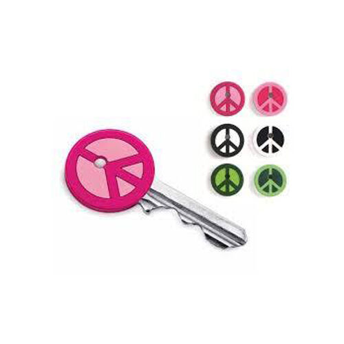 Kikkerland Design PEACE SIGN Key Covers Caps choice Pink,Green or Black & White