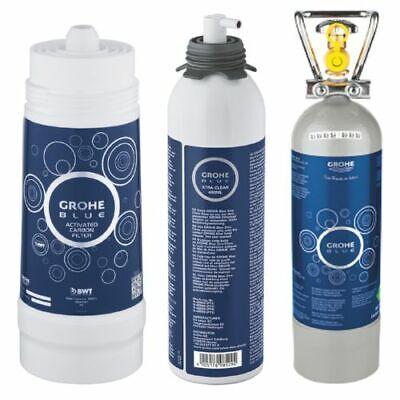 Grohe Blue Paquete de Accesorios Carbón Activado CO2 Botella Cartucho Limpieza