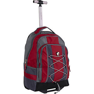 CalPak Impactor Wheeled Backpack - Deep Red