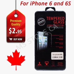 Premium Screen Protector Tempered Glass for iPhone 6 iPhone 6S
