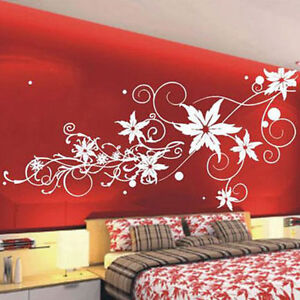 Large-Vine-Flower-Butterfly-Wall-Stickers-Decals-IIl