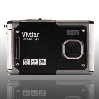 как выглядит Фотоаппарат Vivitar Vivicam T026 12.1 Megapixel Digital Camera - Gray фото