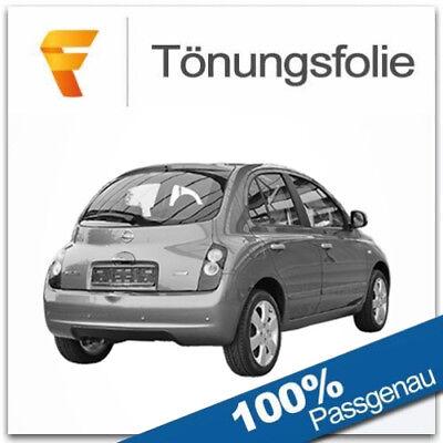2000-2006 Black 95 Tönungsfolie passgenau Nissan Almera Tino V10 5-Türer Bj