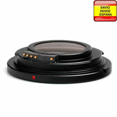 Anillo adaptador lentes de rosca M42 AF confirmacion enfoque y lente a...