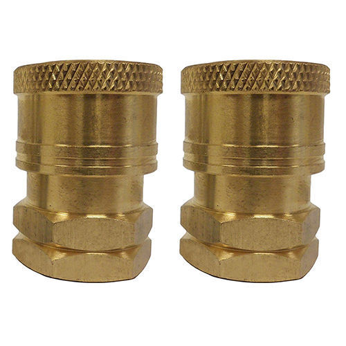 """Pressure Washer Spray Wand Brass Coupler Fitting Set 1/4"""" FNPT 2 Piece Set"""