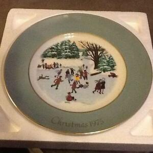 avon christmas plate lot