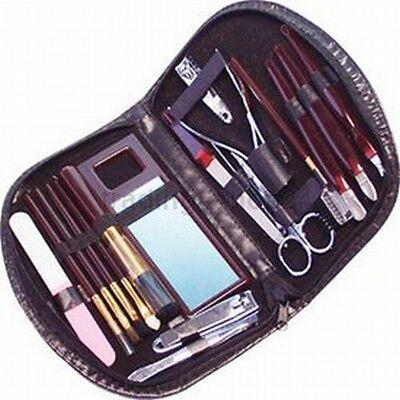 Maniküre & Make-Up Set Nagelpflege 18-teilig in Etui schwarz NEU & OVP